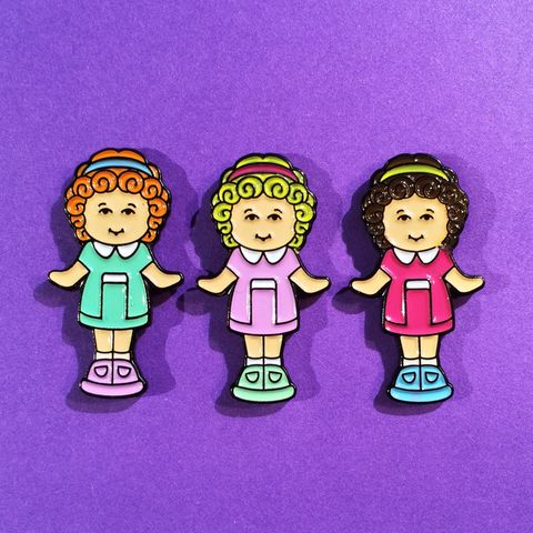 Polly Doll 3 Pin Set by #CandyDollClub - #PollyPocket