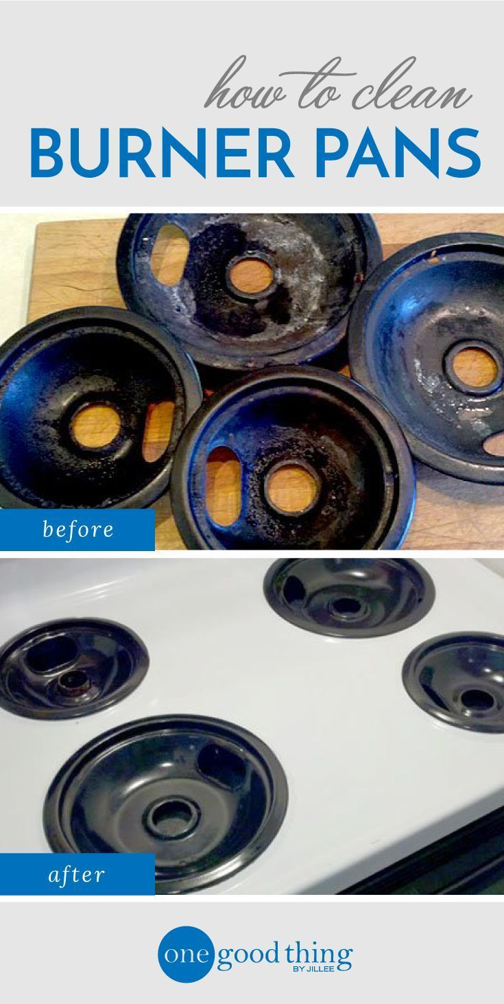 How to clean burner pans from One Good Thing