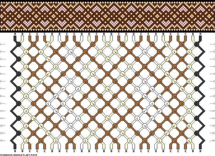 Muster # 53505, Streicher: 26 Zeilen: 14 Farben: 4