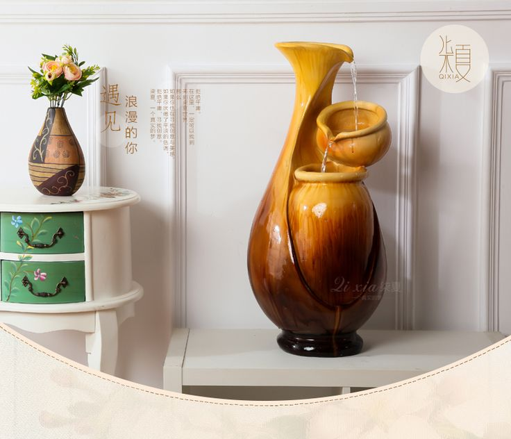 Sitting room TV ark big vase furnishing articles Humidifier water