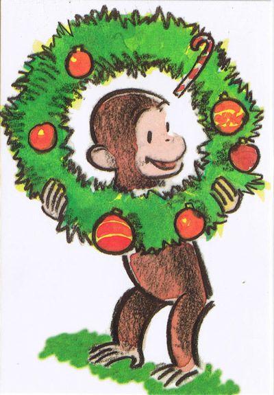 Curious George Wreath