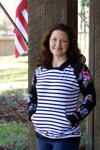 Seamingly Smitten: Women's Hooded Raglan PDF sewing pattern; hoodie pattern