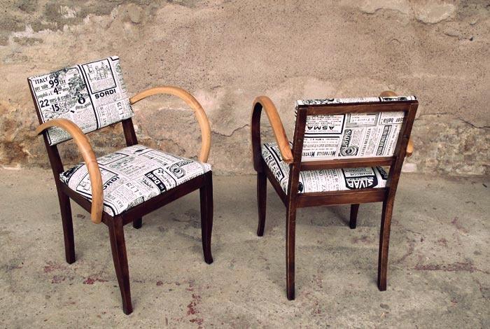 fauteuils bridge r nov relook type bistrot idee fauteuil relooke pinterest ponts. Black Bedroom Furniture Sets. Home Design Ideas