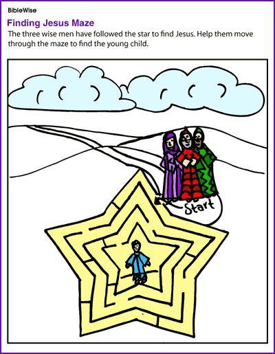 Three Wise Men Look For Jesus Maze Kids Korner