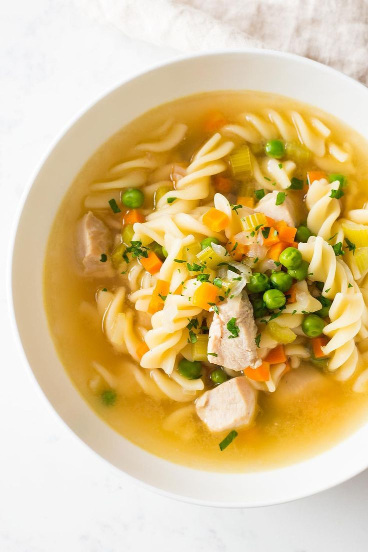 Warm up with this ALL IN ONE POT Instant Pot Chicken Noodle Soup. Chicken breasts, veggies, pasta, chicken broth and about 20 minutes is all you need.