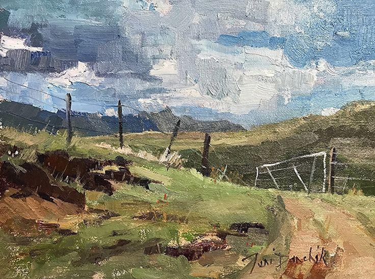 Farmgate by Toni Danchik Oil ~ 9 x 12