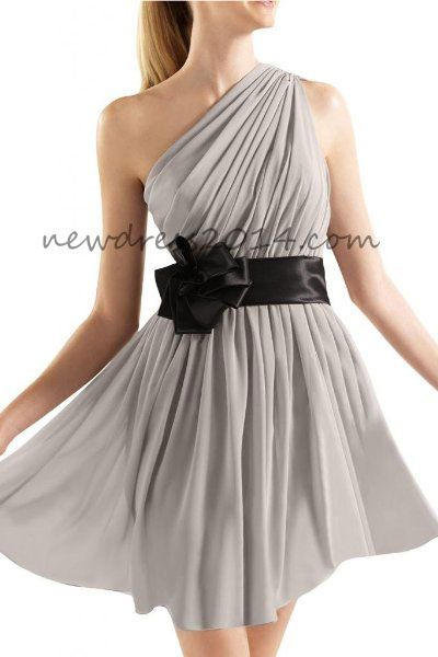 this style would cover cleavage problems and be a cute bridesmaid dress... I like the idea of every bridesmaid dress being different though.