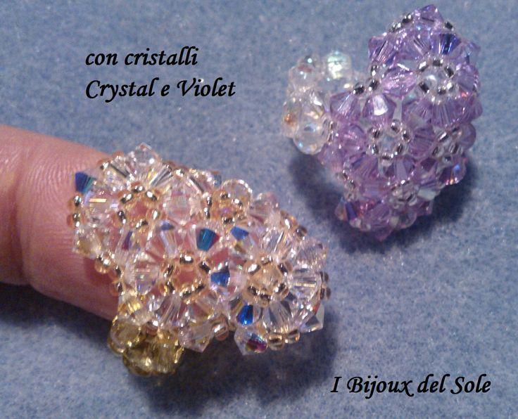 Anelli fascia di fiori crystal e violet