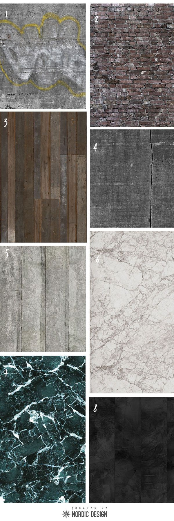 Curated: 8 Fantastic Wallpaper for a Stylish and Edgy Look - NordicDesign
