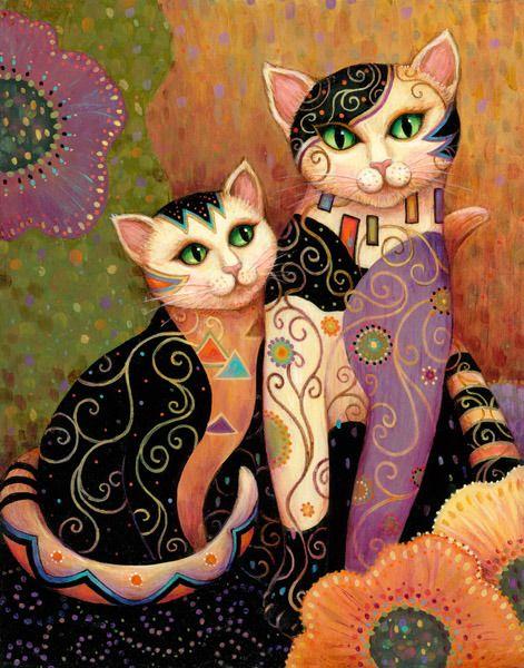 "Marjorie Sarnat | Artist - Galleries - Kleo Kats™ ~ ""Kompanions"""