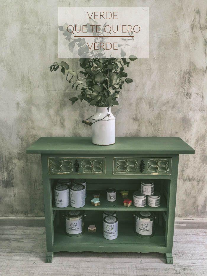 Chalk paint verde que te quiero verde. reciclaje de mueble