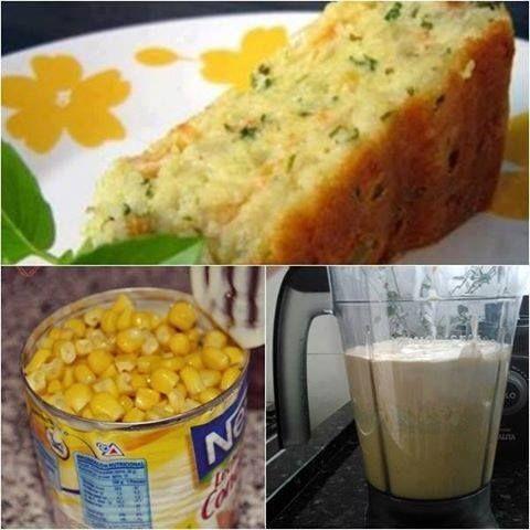 Bolo salgado de milho é fácil de fazer e faz sucesso por que é uma delícia, veja a receita