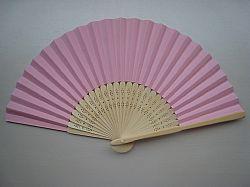 Βεντάλια από μπαμπού/μετάξι ροζ