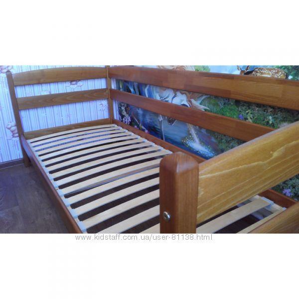 Односпальные кровати из Бука