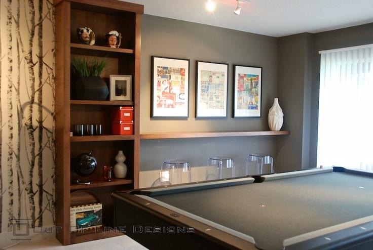 Game Room Drink Shelf Idea Home Floating Shelves
