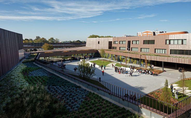 chartier dalix architectes, Takuji Shimmura · Secondary school, sport hall and cultural center · Divisare