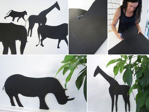 safari-animal-silhouettes-black-poster-board