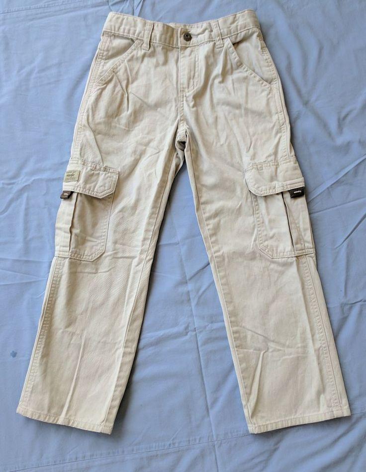 Lee Slim Fit Cargo Boys Gray Pants Sz 8 Husky (L)  #Wrangler #CargoCombat #Everyday