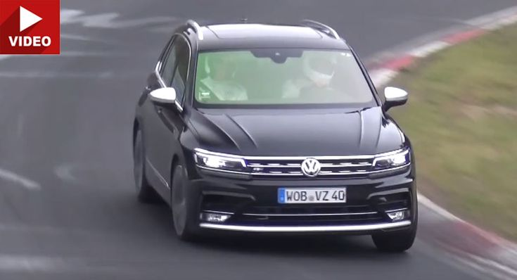 Is This A VW Tiguan R That's Crackling Round The Nurburgring?