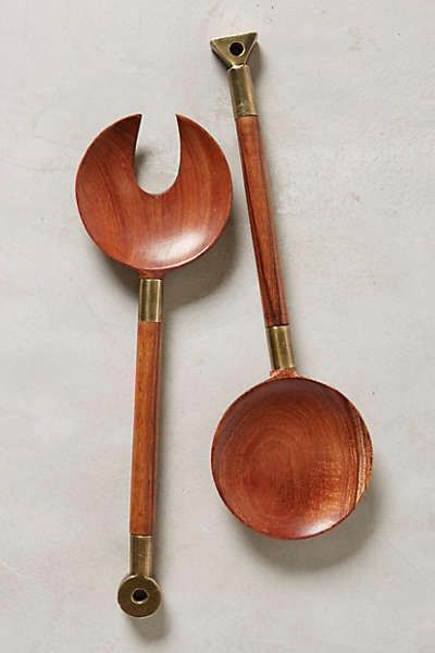 Lovely set of wooden salad severs from anthropologie