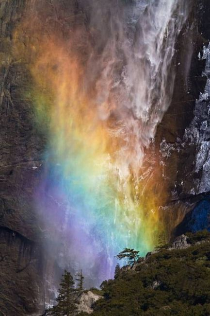 Yosemite California Park, The Fire Waterfall: Amazing, Yosemite National Parks, Rainbows Colors, Beautiful, Yosemite California, Weights Loss Secret, Places, Rainbows Fall, Natural