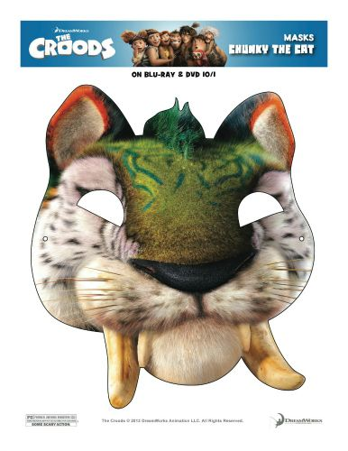 The Croods Printable Chunky The Cat Mask