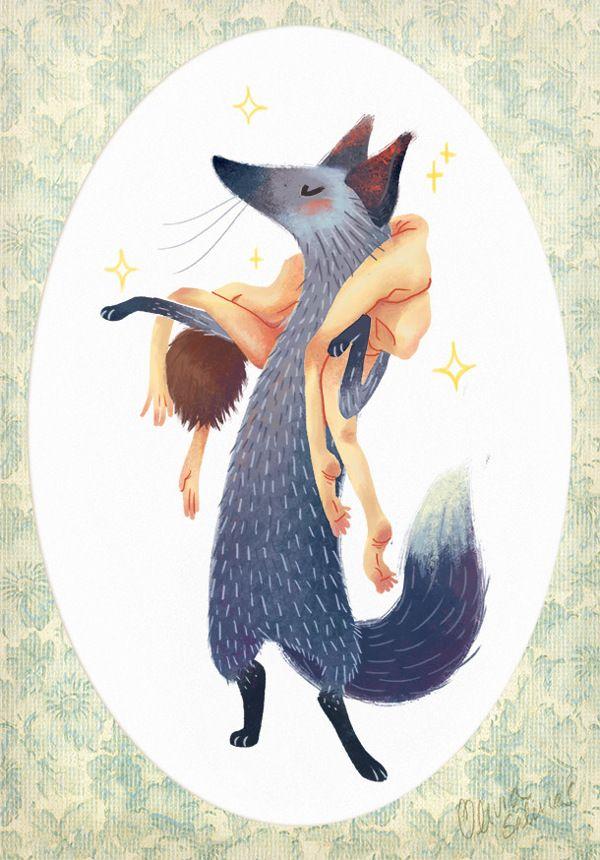 Ilustración by Olivia Salinas, via Behance ^^ Good idea....Boa ideia para quem usa peles de animais!