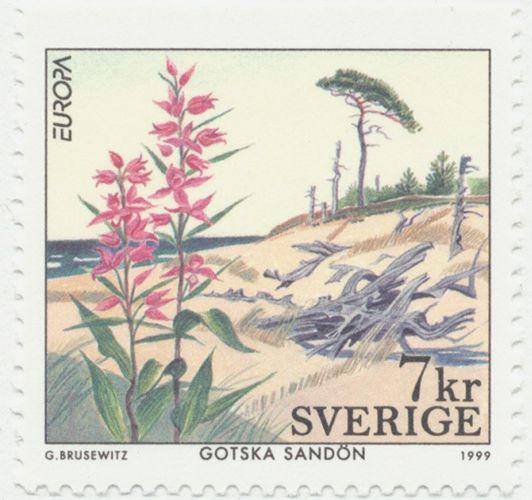 Sweden 7kr National Park Day/Europa 1999.  Gunnar Brusewitz del.