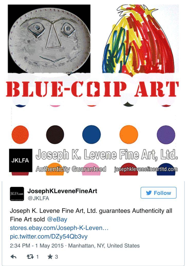 Joseph K. Levene Fine Art, Ltd. guarantees Authenticity all Fine Art sold on  eBay.