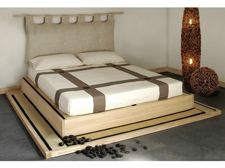 Tatami wooden double bed