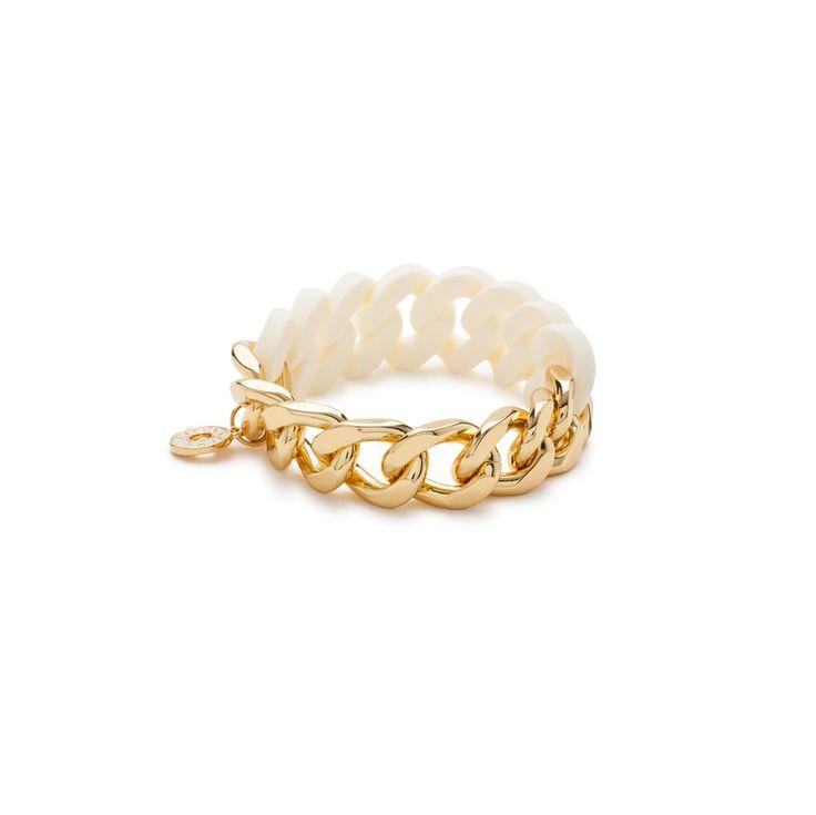 JEWELLERY Rubber chain bracelet IVORY