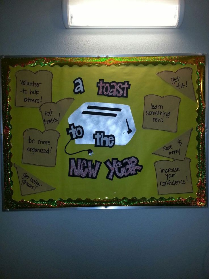 """New Year"" Bulletin Board #residentassistant"
