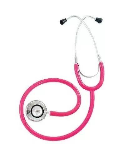 Estetoscopio Duplo Pink/rosa - Pamed - 2 Anos De Garantia - R$ 29,90