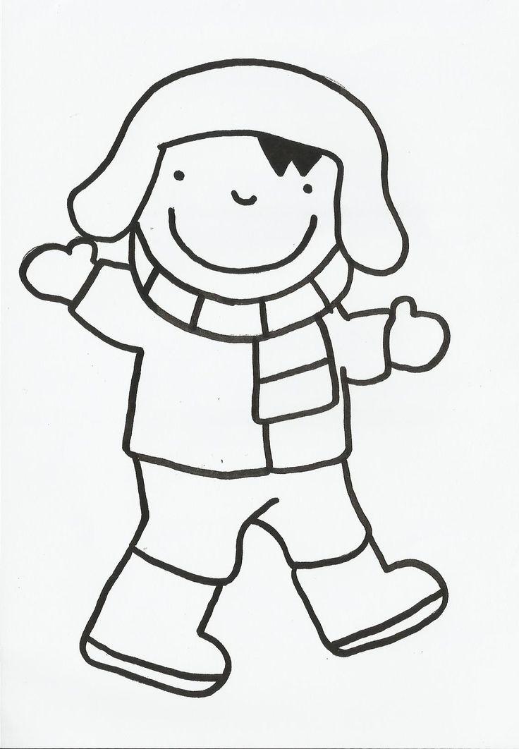 Anna - logiset (Trui, gezicht en broek inkleuren- muts, sjaal, handschoenen en laarzen blijven wit)