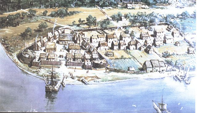 What problems did the colonists face at Jamestown?