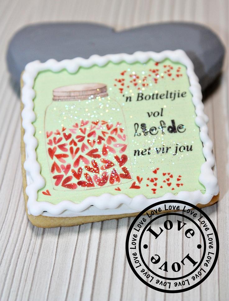 Afrikaans Valentine's Cookie