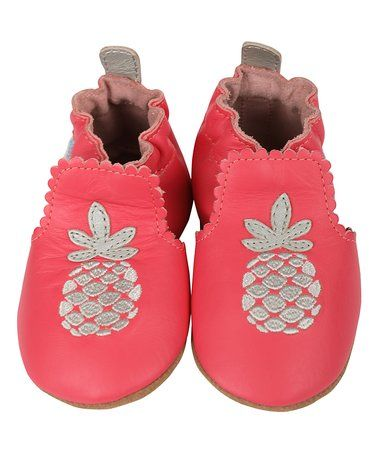 Look at this #zulilyfind! Fuchsia Pretty Pineapple Leather Bootie #zulilyfinds