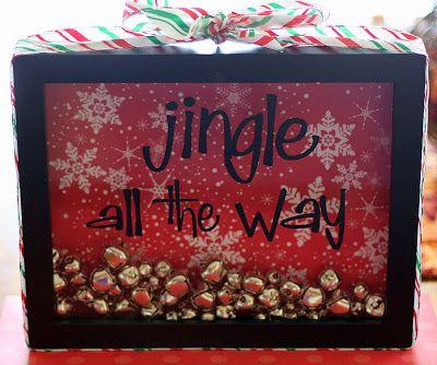 Day 6 of 12 Days of Christmas Fun: Jingle All the Way Shadow Box Tutorial • Food, Folks and Fun