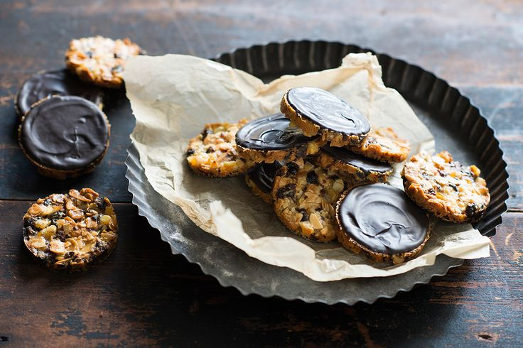 Eat 'em or tie a stack together for a great gift: Cherry and orange florentines