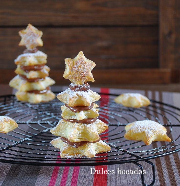 Nutella puff pastry Christmas tree - Arbol de Navidad de hojaldre y Nutella