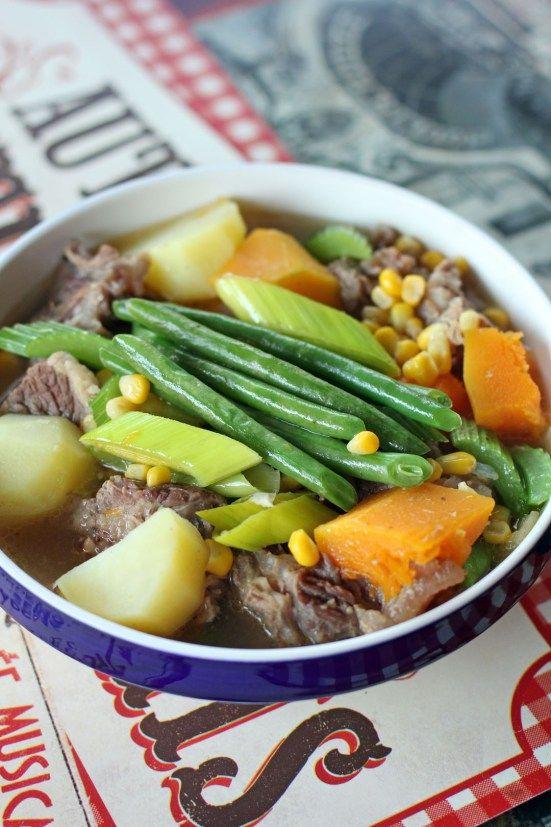 Cazuela de Vaca 2 (Beef Casserole) ~With beef, pumpkins, potatoes, corn, and other vegetables.