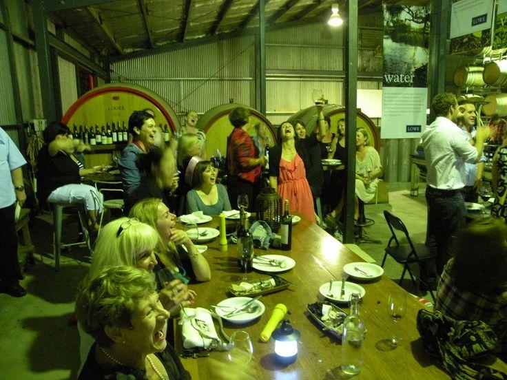 """Lowe Wines, Mudgee """"Tunnel of Lowe"""" dinner."""