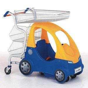 Wanzl Fun Mobil Compact zaručuje zábavu pro děti po celou dobu nakupování. Děti i maminky je milují.