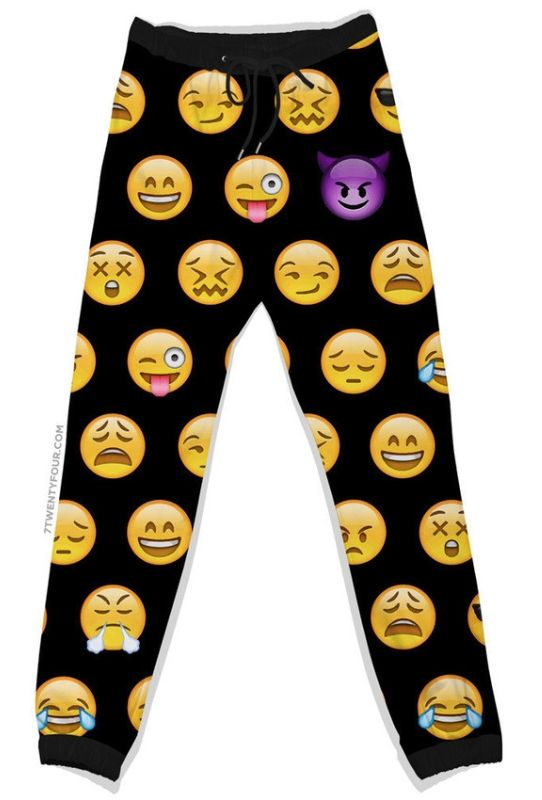 Smiley Face Sweatpants -- fashionable and comfy!