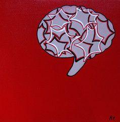 Yhteyshäiriö. Size 30x30cm (mixed media) Artist: Anna Vento