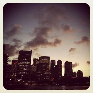 The Sydney skyline is so beautiful at dusk