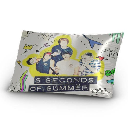 5-Seconds-of-Summer-5SOS-Personalized-Custom-Pillow-Case-20-x-30-One-Side