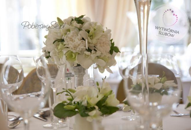 Dekoracje ślubne, dekoracje sali weselnej, żywe kwiaty