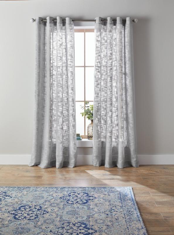 e5980a45086214de820ab47404c37971 - Better Homes And Gardens Checked Plaid Curtain Panel