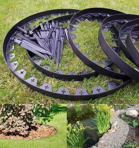 Circular Lawn Edging: Details About Garden Lawn Edging Flexible Plastic Garden